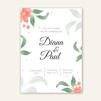 Elegante bruiloft uitnodiging thema