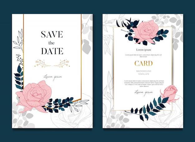 Elegante bruiloft uitnodigingskaart