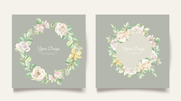 Elegante bruiloft uitnodigingskaartenset