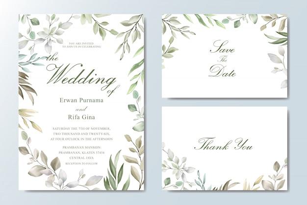 Elegante bruiloft uitnodigingskaartsjabloon