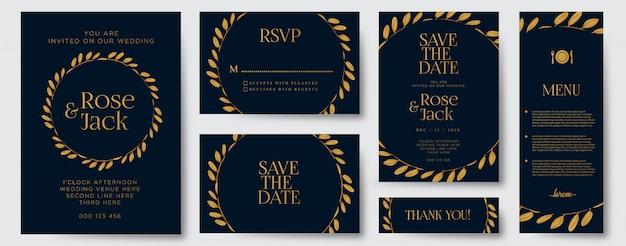 Elegante bruiloft uitnodigingssjabloon