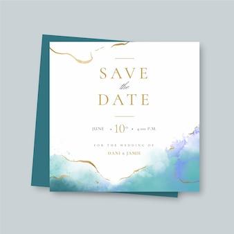 Elegante bruiloft vierkante folder sjabloon