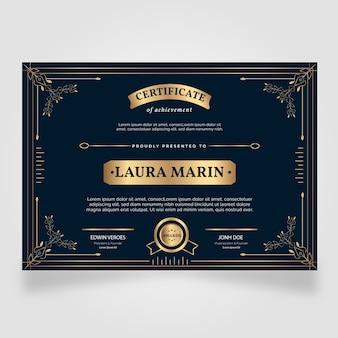 Elegante certificaat waardering sjabloon