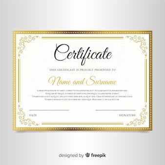 Elegante certificaatsjabloon met sierlijst