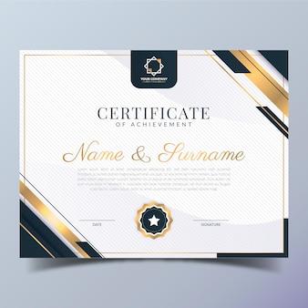 Elegante certificaatsjabloon met verloop Gratis Vector