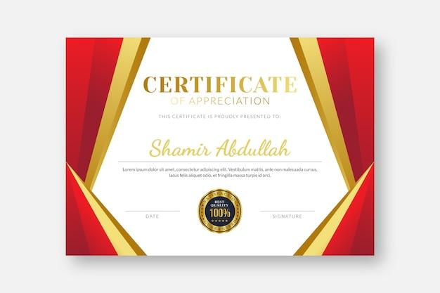 Elegante certificaatsjabloon professionele certificaatsjabloon diploma certificaatsjabloon certificaatsjabloonontwerp