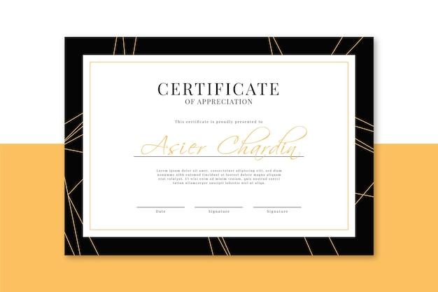 Elegante certificaatsjabloon