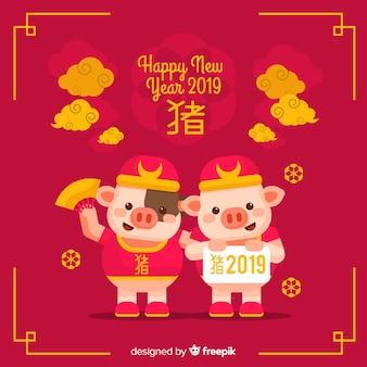 Elegante Chinese nieuwe jaarachtergrond