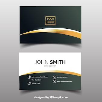Elegante corporate kaart met gouden accenten