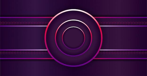 Elegante donkere achtergrond met cirkelvorm van de overlappingslaag
