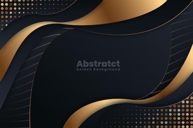Elegante donkere achtergrond met gouden details