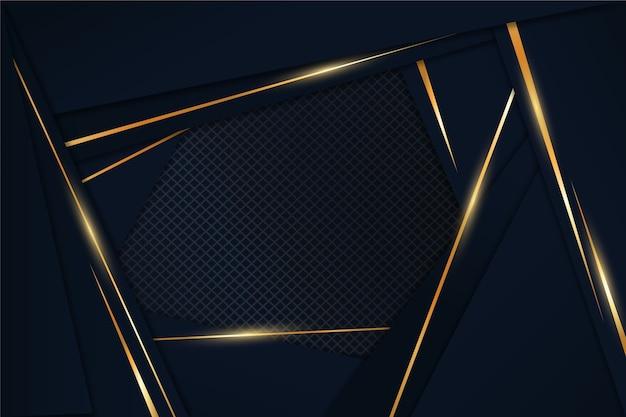 Elegante donkere achtergrond met gouden detailsconcept