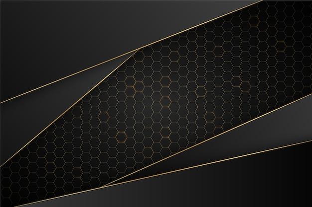 Elegante donkere achtergrond met gouden detailsontwerp