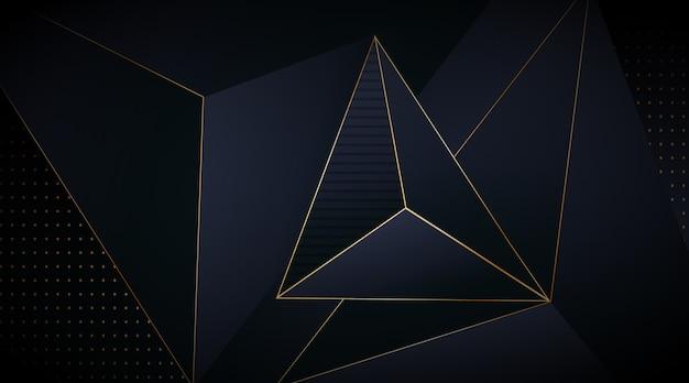 Elegante donkere achtergrond met gouden lijnen