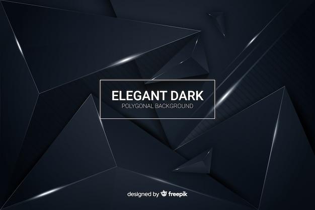 Elegante donkere veelhoekige decoratieve achtergrond