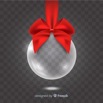 Elegante, doorzichtige kerstbal