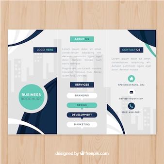 Elegante driebladig brochureontwerp