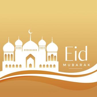 Elegante eid festival moskee achtergrond