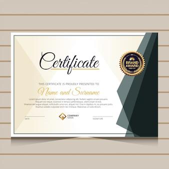 Elegante en luxe certificaatsjabloon
