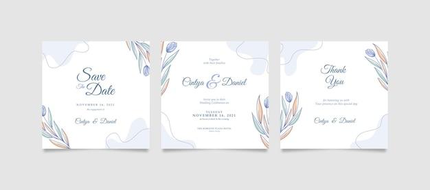 Elegante en schone instagram-post voor bruiloft