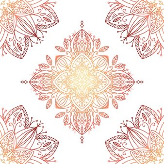 Elegante en warme gradiënt mandala achtergrond