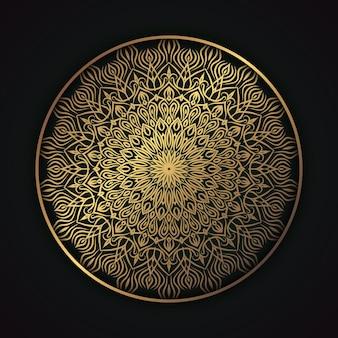 Elegante etnische stijl mandal islamitische achtergrond