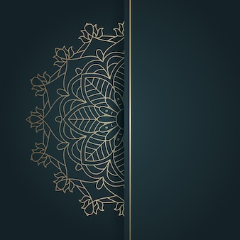 Elegante etnische stijl mandala ontwerp achtergrond