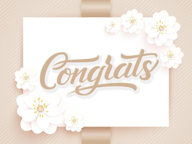 Elegante felicitatiekaart