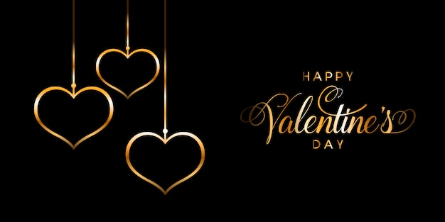 Elegante gelukkige valentijnsdag banner
