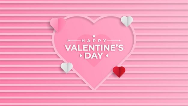 Elegante gelukkige valentijnsdag wenskaart