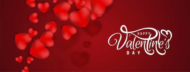 Elegante gelukkige valentijnsdag