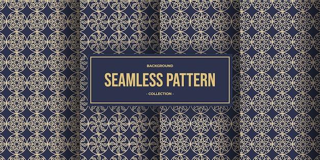 Elegante geometrische lijn naadloze patrooncollectie