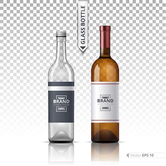 Elegante glazen fles
