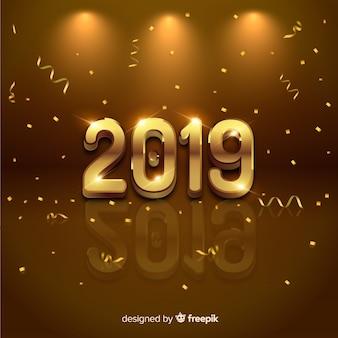 Elegante gouden 2019 achtergrond