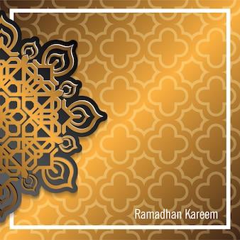 Elegante gouden arabische achtergrond