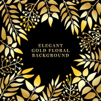 Elegante gouden bloemen achtergrond