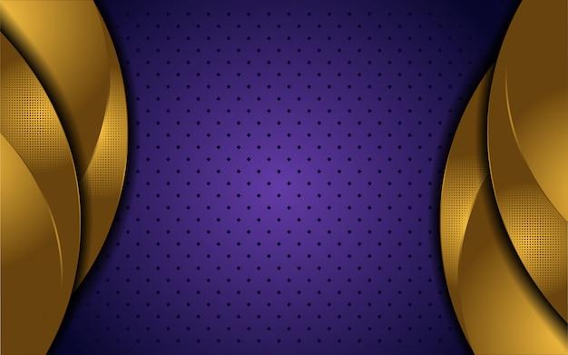 Elegante gouden en purpere luxeachtergrond