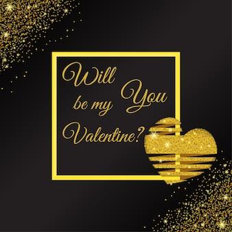 Elegante gouden glitter achtergrond voor valentijn dag