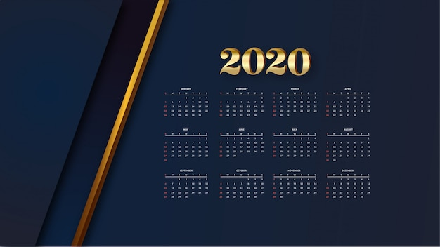 Elegante gouden kalender