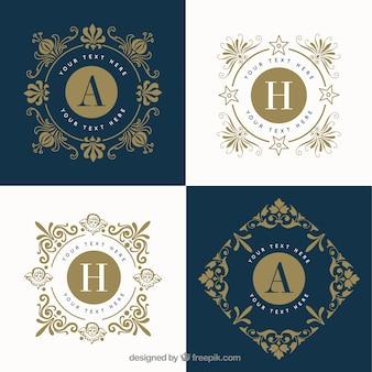 Elegante gouden logo's