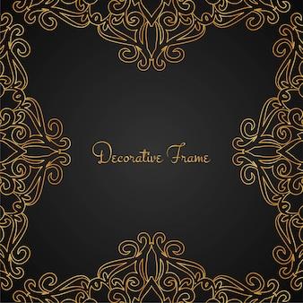 Elegante gouden luxe frame achtergrond