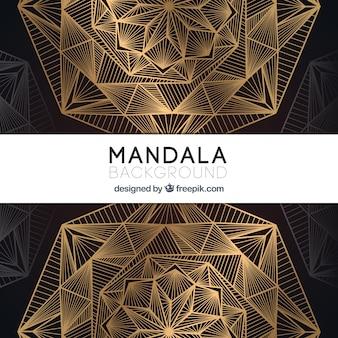 Elegante gouden mandalaachtergrond