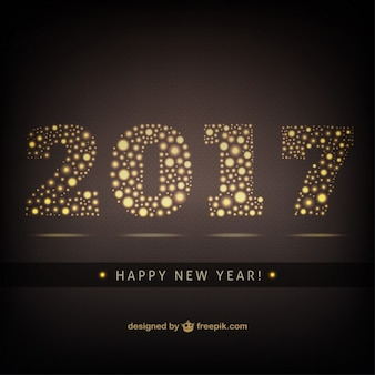 Elegante gouden nieuwe jaar achtergrond