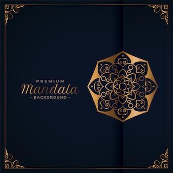 Elegante gouden premium mandala achtergrond