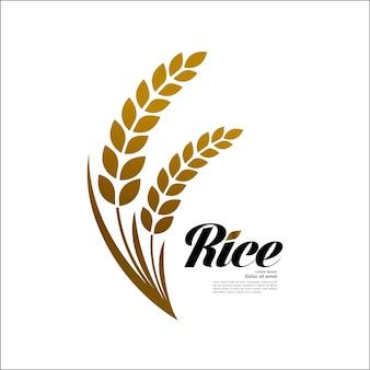 Elegante gouden rijst vectorillustratie