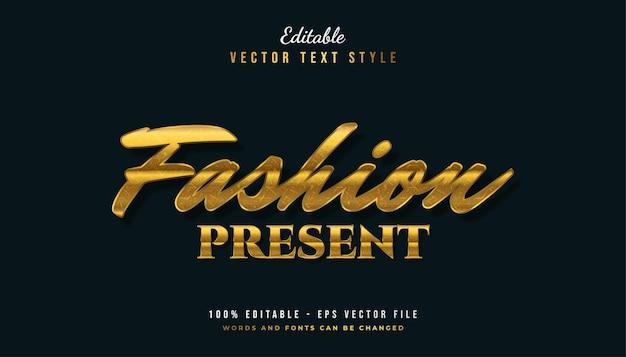 Elegante gouden tekststijl met textuureffect