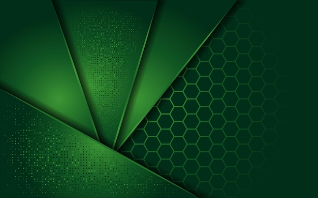 Elegante groene achtergrond met overlappende laag