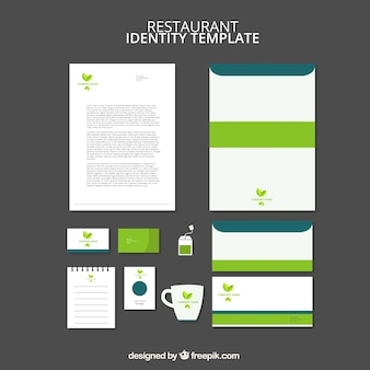 Elegante groene briefpapier