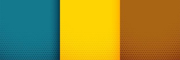 Elegante halftone achtergrond in turquoise gele en bruine kleuren