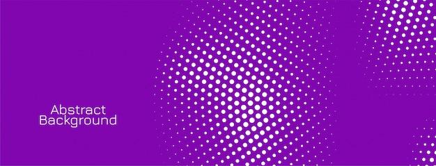 Elegante halftone violette banner
